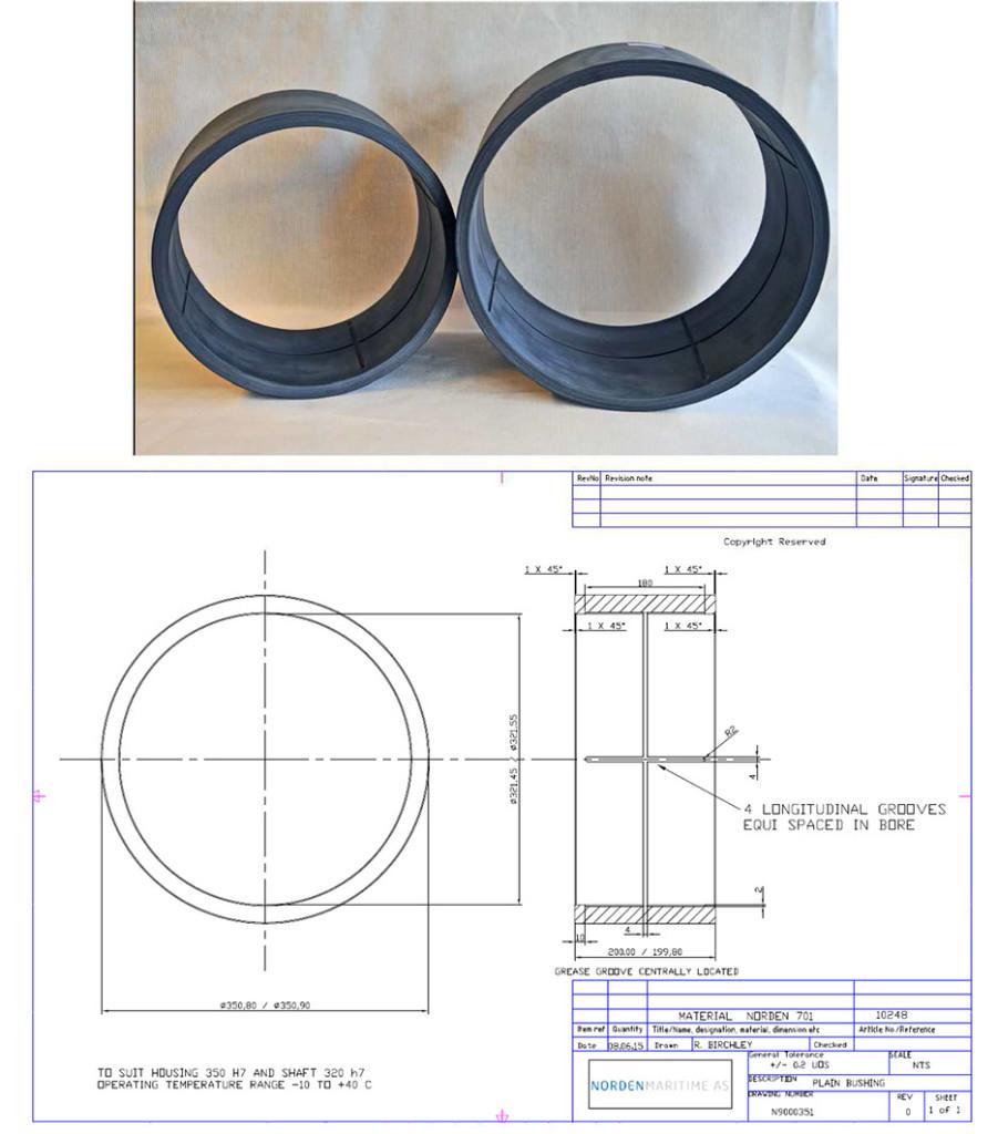 Composite bearings for 50 ton marine crane_2
