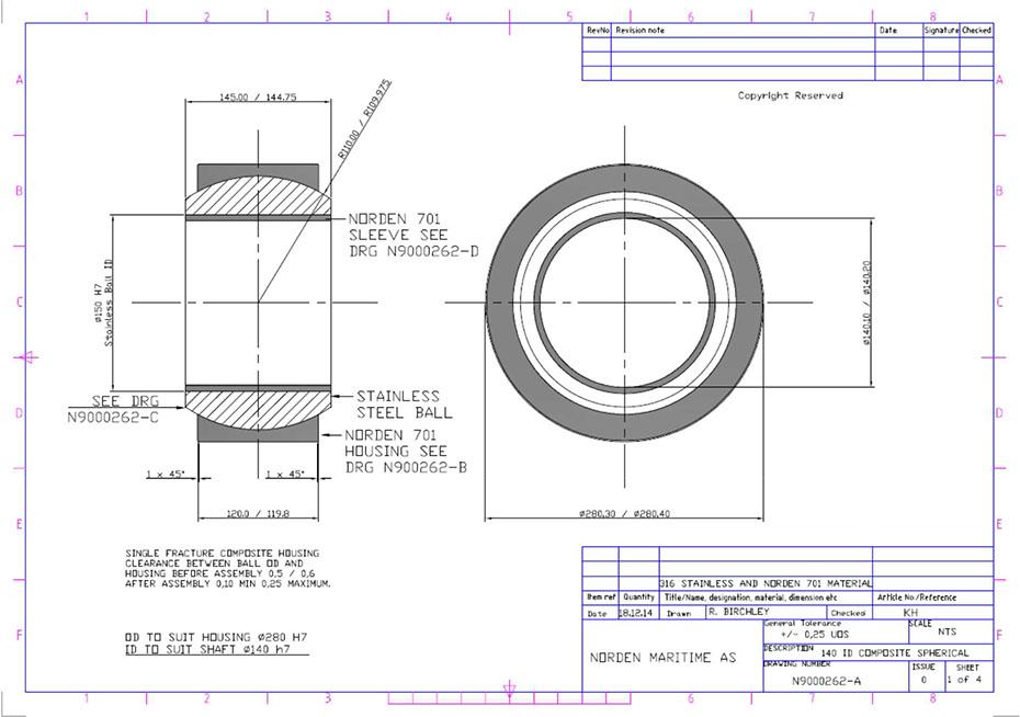 Composite spherical bearing and radial plan bearing_3