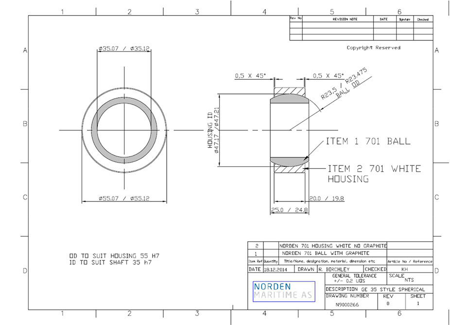 Composite spherical bearing and radial plan bearing_4