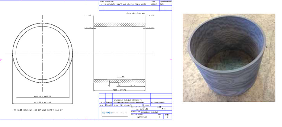 Offshore fairlead_Composite bearings_2